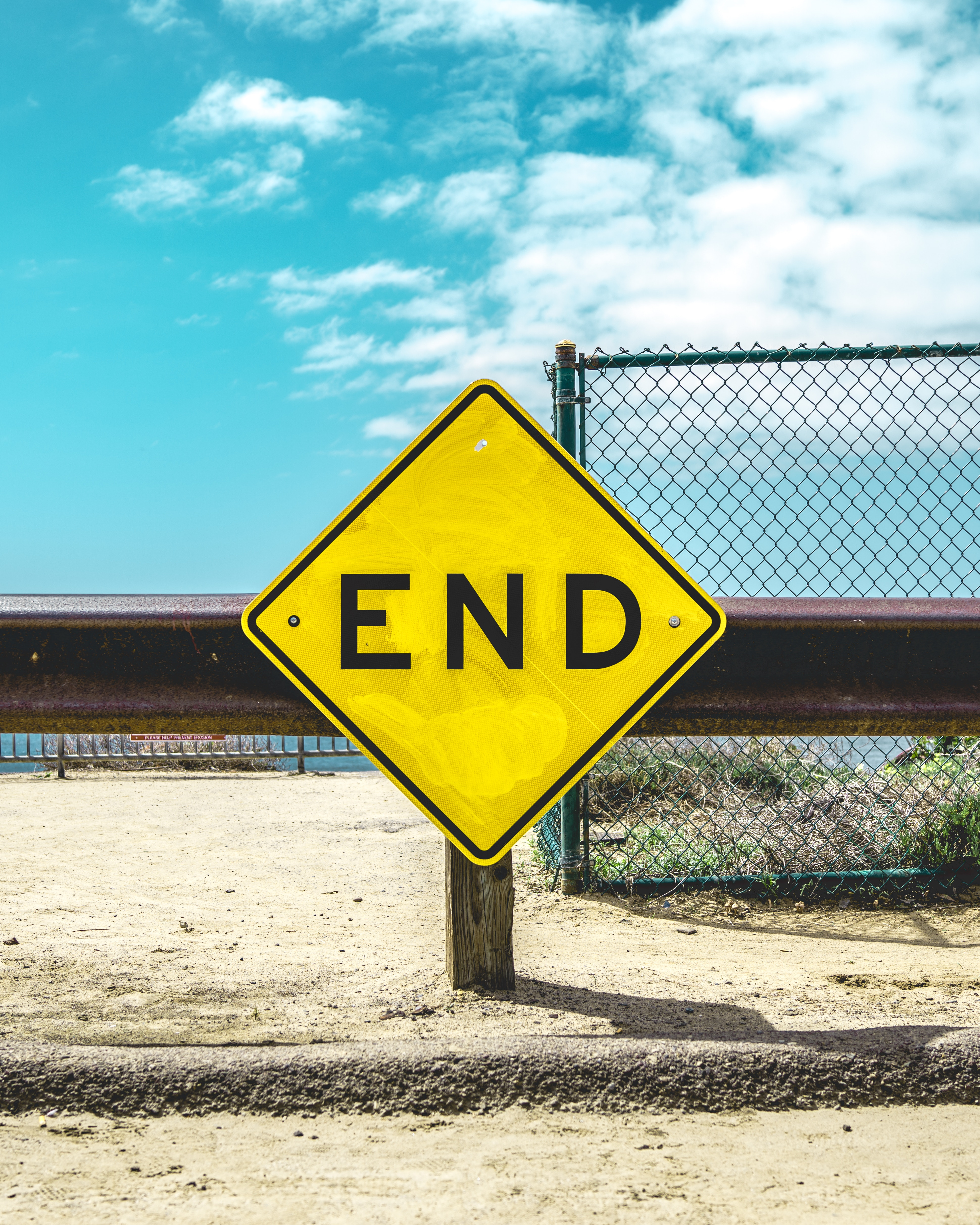 End sign